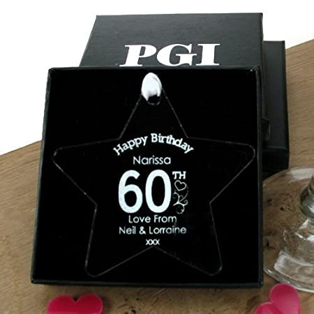 Womens 60th Birthday Gift Party Decoration Keepsake Star Gifts For Her Amazoncouk Kitchen