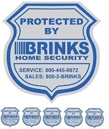 1 Home Security Yard Sign and 5 Security Stickers Decals by Home Security