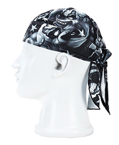 Adjustable Double Headband - Wicking Beanie Adjustable Cycling Bandana - Skull Cap Beanie For Outdoor Running - Double Dry Dew Doo Rag Head Wrap Headband Sweatband