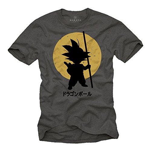 Son Goku T-Shirt for Men - Vegeta Siyan Kame Dragonball Grey Size - Evolution T-shirt Kids