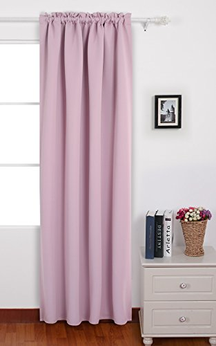 Deconovo Blackout Rod Pocket Drapes and Curtains Thermal Insulated Curtains for Girls Room 42 W x 95 L Pink Lavender 1 Panel - One Panel Per Package,Each panel measures 42 W x 95 L. Deconovo rod pocket drapes and curtains are also thermal insulated and prevent from heat escapes and blocks sunlight from entering the room. They are silky, soft, drapery and very pleasant to touch and gives an expensive look to any room. - living-room-soft-furnishings, living-room, draperies-curtains-shades - 41fQAGh%2BnXL -