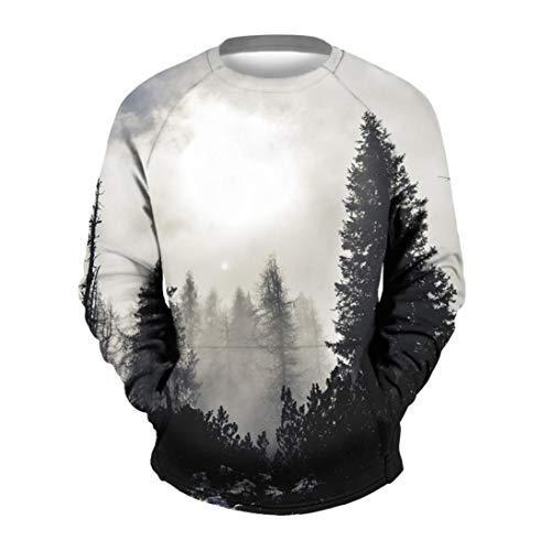 Willsa Men's Shirts Casual Splash-Ink 3D Printing Long Sleeve T Shirt Tank...