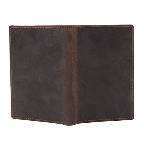 Texbo RFID Blocking Full Grain Cowhide Leather Passport Holder Card Case Travel Wallet (Dark Brown) by Texbo (Image #3)