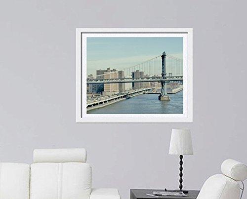 New York Photography Print, Manhattan Bridge, New York City Skyline, East River Industrial Wall Decor Picture 5x7, 8x10, 11x14, 12x16, 12x18, 16x24, 20x30, 24x30