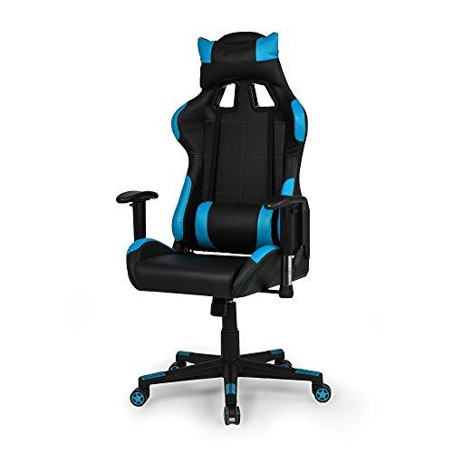 Due-Home - Silla ergonomica de Oficina Gaming Silvertone, sillon Giratorio para Escritorio, Estudio o despacho Color Turquesa, Medidas: 67x124x68 cm de Fondo