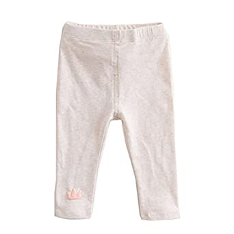 6190f43e251ec marc janie Baby Toddler Girls' Cute Pattern Solid Elastic Leggings Infant  Pants Beige 3T