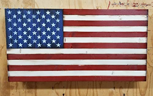 Wooden American Flag with Hidden Concealment Compartment (19