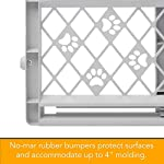 "North States Mypet Paws 40"" Portable Pet Gate: Expands & Locks In Place with No Tools. Pressure Mount. Fits 26""- 40"" Wide (23"" Tall, Light Gray) 9"