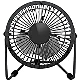 Mini Office Fan USB Small Fan Quiet Portable Angle Adjustable 6 Inch Blade Desk Tabletop Personal Cooler for Work Study Home Travel ( Black)