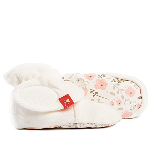goumikids goumiboots, Soft Stay On Booties Keeps Feet Warm and Adjusts to Fit as Baby Grows (3-6 Months, Enchanted Garden)