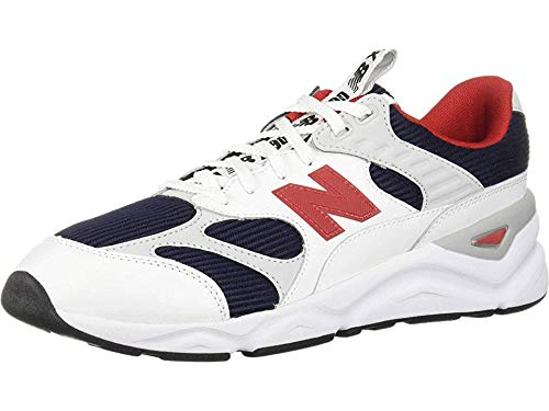 New Balance Men's X90 Re-Constructed, Pigment/Team Red, 10 D US