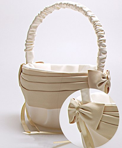 Ivory Flower Girl Baskets Australia : Vivivalue flower girl basket wedding collection