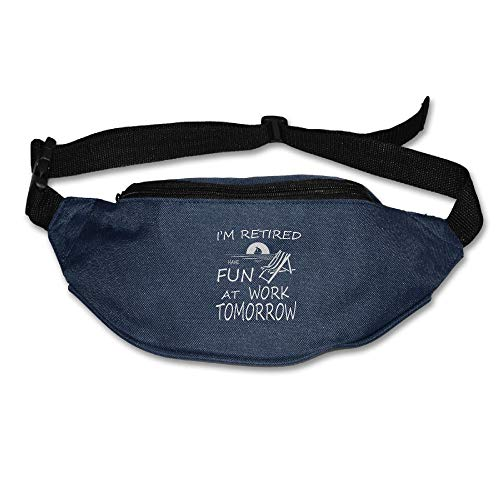 Ada Kitto I'm Retired Have Fun At Work Mens&Womens Sport Style Travel Waist Bag For Running And Cycling Navy One Size by Ada Kitto