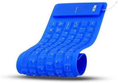 IMEXX - Teclado Impermeable (Flexible), Color Azul: Amazon.es ...
