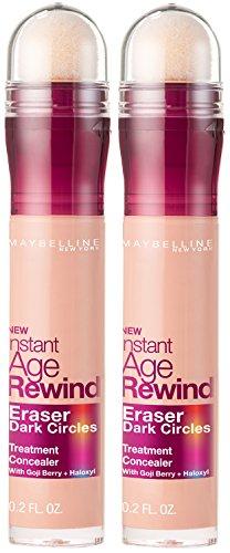 Maybelline Instant Age Rewind Eraser Dark Circles Treatment Concealer, Brightener, 2 COUNT