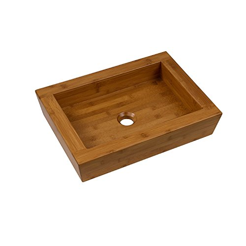 Vessel Sink Bamboo Bath (MAYKKE Logar Rectangular 19