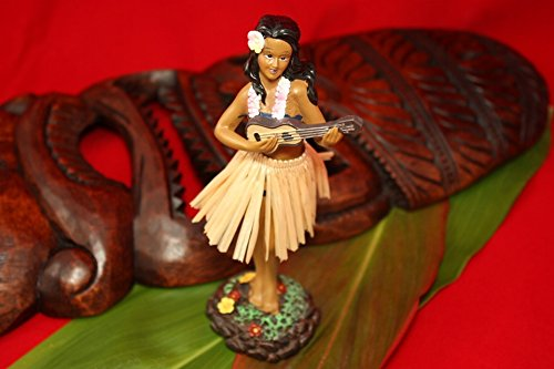 Tikimaster Leilani Dashboard Doll #KC40625 Hula Girl with Ukulele