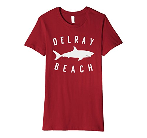 Womens Delray Beach Florida T Shirt Shark Souvenirs Medium - Shops Beach Delray