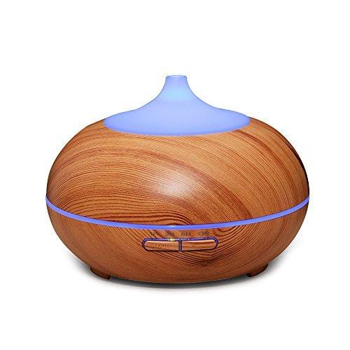 SeresRoad® 300ml Aroma Diffuser Ultraschall Nebel Luftbefeuchter Elektrische Duftlampe mit 7 LED Farbwechsel für Yoga Kinderzimmer Schlafzimmer Büro