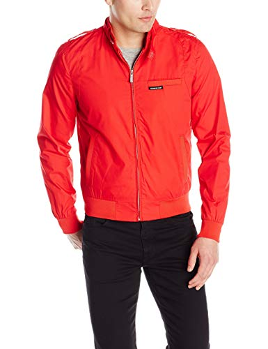 Members Only Men's Original Iconic Racer Jacket, Red, Small