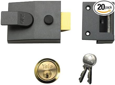 YALE FRONT DOOR LOCK DEADBOLT NIGHTLATCH  RIM CYLINDER LATCH NEW