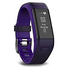 Garmin Vivosmart HR+ GPS Activity Tracker, Purple, Regular