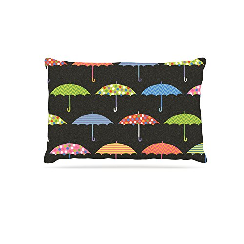 30 by 40\ Kess InHouse Heidi Jennings Umbrella  Multicolor Fleece Dog Bed, 30 by 40
