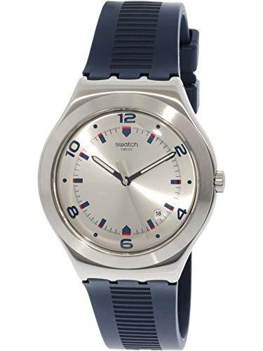 Swatch Men's Brut De Bleu YWS431 Silver Rubber Quartz Dress Watch