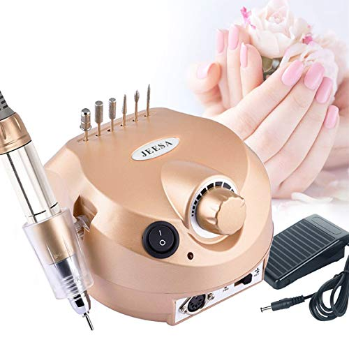 30000RPM Nail Drill, Electric Professional Nail Drill Machine Nail Files for Acrylic Gel Nails, Manicure Pedicure, Nail File Polisher Kit with Foot Pedal and Drill Bits ()