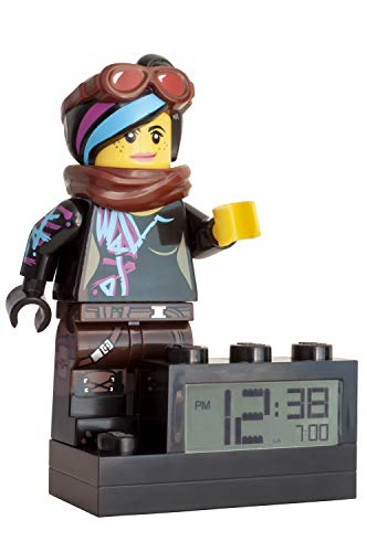 LEGO Movie 2 9003974 Wyldstyle Kids Minifigure Light Up Alarm Clock | color | plastic | 6 inches tall | LCD display | boy girl | official
