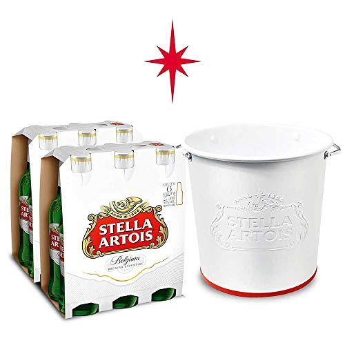 Kit Stella Artois 2 packs (12 Unidades) + Balde Alto Relevo