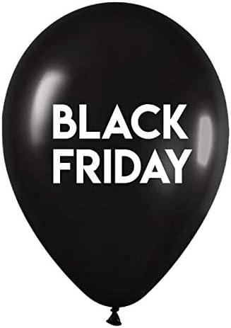 Globos Black Friday Latex Redondo 35cm: Amazon.es: Juguetes y juegos
