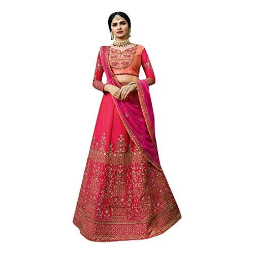 Da Etniche Vestito Indiana Netto Lehnga Donne Ricamo Dupatta Con 7119 Sposa Sparkle Elegante Pesante Designer Nuziale Choli Silk 7nOOUH