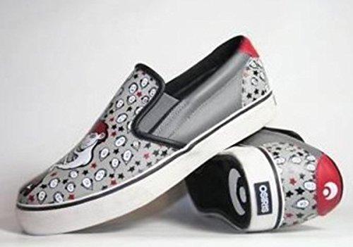 Osiris Shoes Skate / Slip On slittamento slittamento Scoop Ons White/Black - skateboard shoes, schuhgrösse:41.5