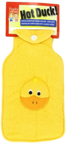 Hot or Cold Water Bottle with Soft Yellow Duck Cover