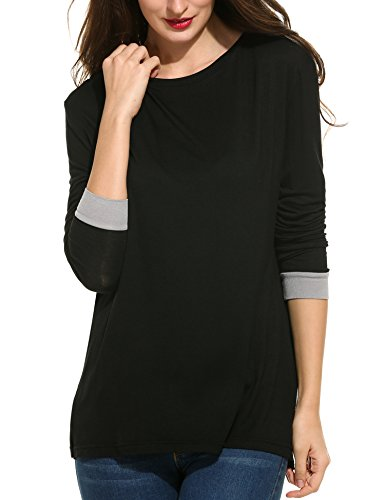 ANGVNS Women Shoulder Casual Sleeve