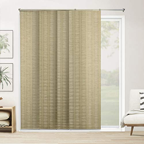 - Chicology Adjustable Sliding Panels, Cut to Length Vertical Blinds, Provence Maple (Natural Woven) - Up to 80