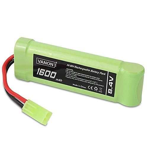 (8.4V NI-MH 1600mAh 7-Cell Flat Battery Pack with Mini Tamiya Connector)