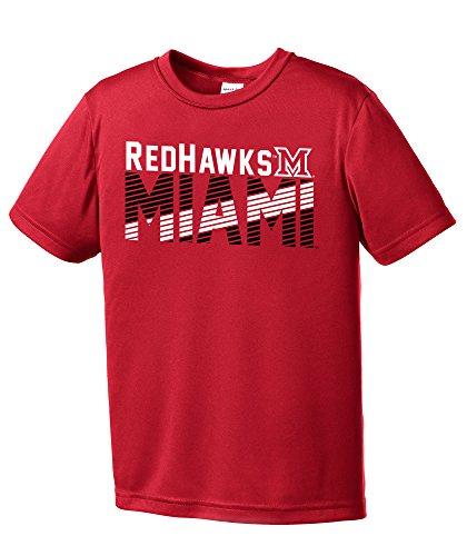 Miami Ohio Redhawks Baseball (NCAA Miami (Ohio) Redhawks Youth Boys Diagonal Short sleeve Polyester Competitor T-Shirt, Youth Medium,Red)