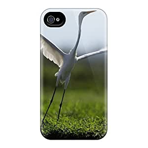 Fashionable Style Case Cover Skin For Iphone 4/4s- Animals Birds Soaring Heron
