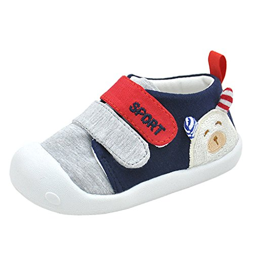 - Annnowl Baby Sneakers Anti-Skid Rubber Sole Shoes (16 (Insole Length -12.5 cm for 15-18 Months), Blue)