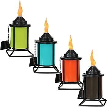 Amazon.com: PierSurplus - Juego de 4 linternas de cristal ...