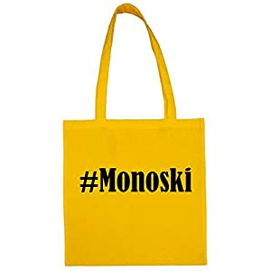 Tasche#MonoskiGröße38x42FarbeGelbDruckSchwarz