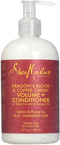 Shea Leave - Shea Moisture Dragon's Blood & Coffee Cherry Volume & Conditioner for Unisex, 13 Ounce