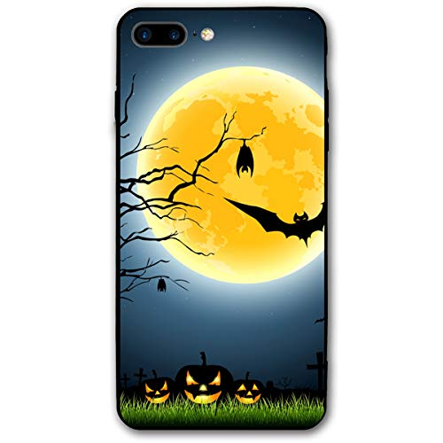 iPhone 7 Plus Case iPhone 8 Plus Case 5.5 Inch Halloween Full Moon Party at Night Soft Flexible TPU Back Cover Silicone TPU Ultra Thin Phone Case ()