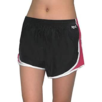 Womens Dri-Fit Mesh Side-Panel Running / High Performance Athletic Shorts with Built-In Panty - Dark Blue (Size: XL)