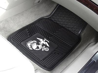 The United States Marines Heavy Duty Vinyl Rubber Front Floor Mats ()