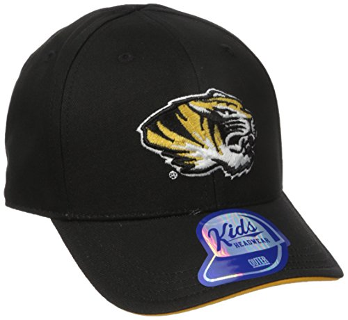 NCAA by Outerstuff NCAA Missouri Tigers Toddler Basic Structured Adjustable Hat, Black, Toddler One Size
