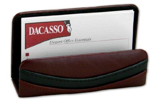 Dacasso Burgundy Leather Business Card Holder