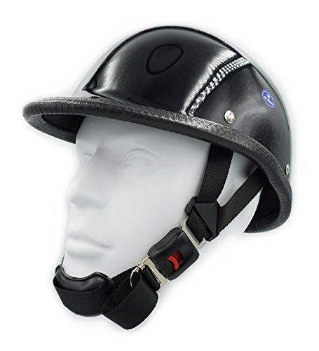 Hot Rides Classic Chopper Biker Motorcycle Helmet Novelty For Cruiser Harley Scooter ATV Hawk Gloss Black (Large)]()